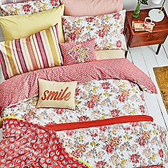 Helena Springfield - Bright orange polyester and cotton 'Fay' bedding set