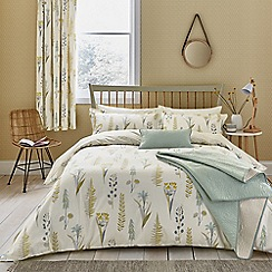 Sanderson - Natural Cotton 'Floral Bazaar' Bedding Set