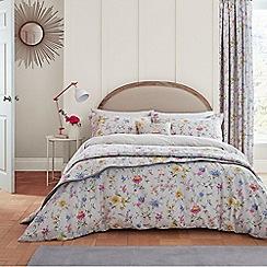 V & A - Light grey cotton 'Fleuri' bedding set