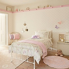 Little Sanderson - Kids' pink 300 thread count 'Fairyland' single duvet cover and pillow case set