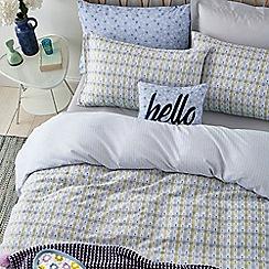 Helena Springfield - Blue brushed cotton 'Heidi' bedding set