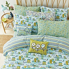 Helena Springfield - Blue polyester and cotton 'Hometown Parade' bedding set