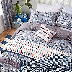 Helena Springfield - Royal Blue polyester and cotton 'Larvotto' bedding set