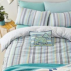 Helena Springfield - Light turquoise brushed cotton 'Lexi' bedding set
