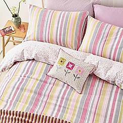 Helena Springfield - Cerise brushed cotton 'Lexi' bedding set