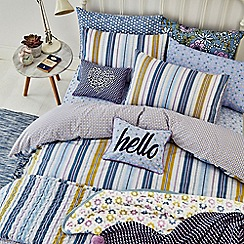 Helena Springfield - Blue polyester and cotton 'Melody' bedding set