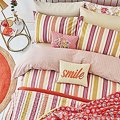 Helena Springfield - Bright orange polyester and cotton 'Melody' bedding set