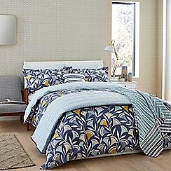 Scion - Dark blue cotton 'Noukku' bedding set