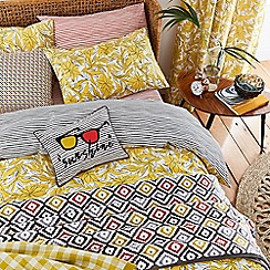 Helena Springfield - Bright yellow polyester and cotton 'Oasis Safari' bedding set