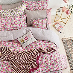 Helena Springfield - Pink polyester and cotton 'Penny' bedding set