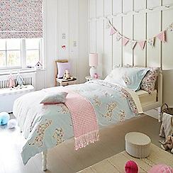 Little Sanderson - Kids' blue 'Pretty Ponies' duvet cover and pillow case set