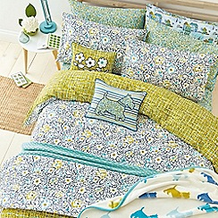 Helena Springfield - Blue polyester and cotton 'Tess' bedding set