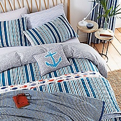 Helena Springfield - Royal Blue polyester and cotton 'Tropez' bedding set
