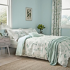 Sanderson - Aqua Cotton 'Willow Tree' Bedding Set