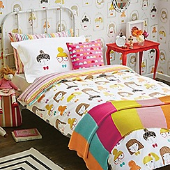 Scion Kids - Kids' white patterned 'Hello Dolly' bedding set