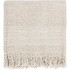 Harlequin - Natural acrylic 'Blaze' striped throw