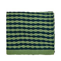 Helena Springfield - Green Acrylic 'Dottie April' Knitted Throw