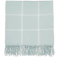 Sanderson - Light blue acrylic Sanderson Options 'Giselle' blanket