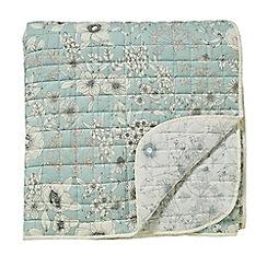 Sanderson - Light blue cotton Sanderson Home 'Maelee' quilted bedspread