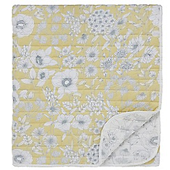 Sanderson - Light yellow cotton Sanderson Home 'Maelee' quilted bedspread