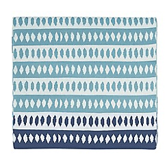Scion - Blue acrylic 'Noukku' knitted throw