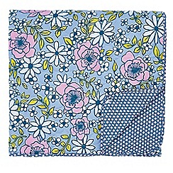 Helena Springfield - Blue polyester and cotton 'Pixie' quilted bedspread