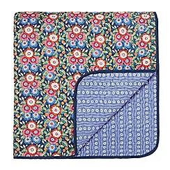 V & A - Multicoloured cotton 'Primula' quilted bedspread