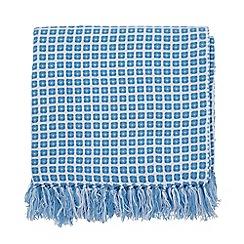 Helena Springfield - Blue Acrylic 'Patsy' Woven Throw