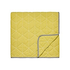 Scion - Yellow cotton percale 'Tetra' throw