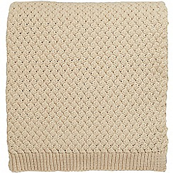 Bedeck of Belfast - Linen acrylic 'Agra' knitted throw