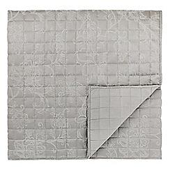 Sanderson - Silver cotton and polyester 'Alencon' throw