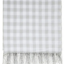 Sanderson - Light grey acrylic Sanderson Options 'Anthea' blanket