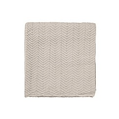 Bedeck 1951 - Light grey cotton 'Arro' knitted throw