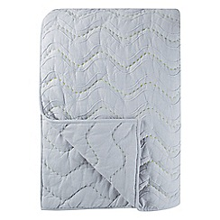 Designers Guild - Grey cotton chambray 'Aurelia' quilted throw