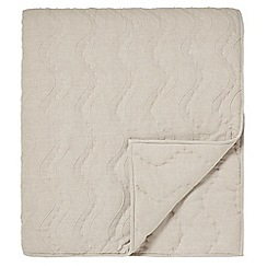Designers Guild - Natural cotton chambray 'Aurelia' quilted throw