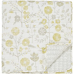 Sanderson - Light grey cotton Sanderson Home 'Batik Garden' quilted throw