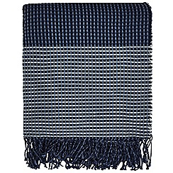Clarissa Hulse - Blue Acrylic 'Blowing Grasses' Woven Throw