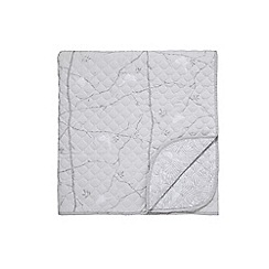 Sanderson - Silver cotton Sanderson Home 'Dawn Chorus' quilted throw
