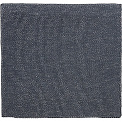 Hotel - Dark blue cotton 'Dolce' knitted throw