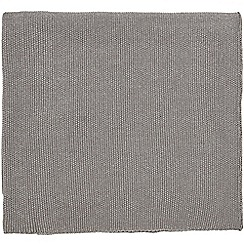 Hotel - Silver cotton 'Dolce' knitted throw