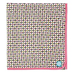 Helena Springfield - Pink polyester 'Dot Penny' fleece throw