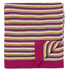 Helena Springfield - Pink acrylic 'Dot Penny' knitted throw