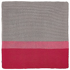 Clarissa Hulse - Pink Cotton 'Espinillo' Knitted Throw