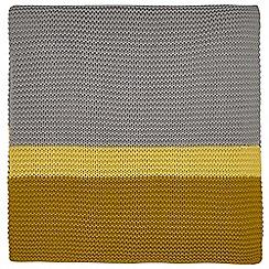 Clarissa Hulse - Mustard Cotton 'Espinillo' Knitted Throw