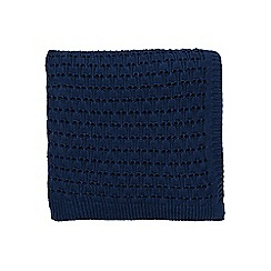 Fable - Dark blue cotton 'Farrah' knitted throw