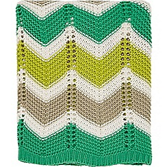 Helena Springfield - Bright green acrylic 'Jacaranda Amalfi' knitted throw