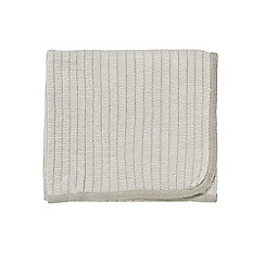 Bedeck 1951 - Natural acrylic 'Kanza' knitted throw