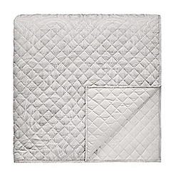 Fable - Light grey cotton 350 thread count jacquard 'Kendari' quilted bedspread