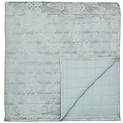 Sanderson - Light blue cotton and polyester Sanderson Options 'Lyon' throw