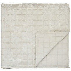 Sanderson - Natural cotton and polyester Sanderson Options 'Lyon' throw